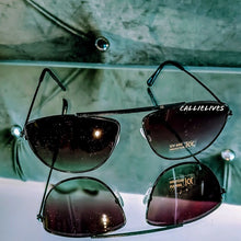 Load image into Gallery viewer, Callie Ombré Black Purple Minty Aviator Sunglasses