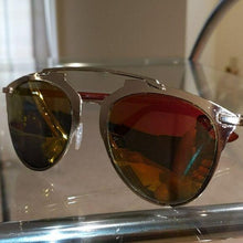 Load image into Gallery viewer, Stasia Pink Mirror Gold Frame Orange Sunglasses