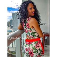 Load image into Gallery viewer, Callie Satin: Floral Print White Orange Short Set - callielives