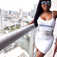 Load image into Gallery viewer, Stasia Identaholic: White Cami Stretch Body Dress - callielives