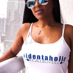 Stasia Identaholic: White Cami Stretch Body Dress, Dresses, CallieLives