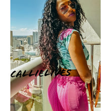 Load image into Gallery viewer, Callie Laser Cut Hot Pink Stretch Shorts - callielives