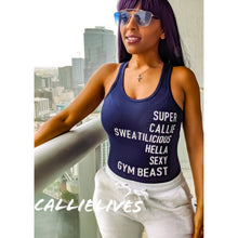 Load image into Gallery viewer, SUPER CALLIE SWEATILICIOUS Gym Leotard Bodysuit L - callielives