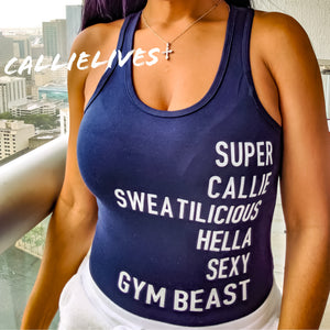 SUPER CALLIE SWEATILICIOUS Gym Leotard Bodysuit L, Active Wear, CallieLives