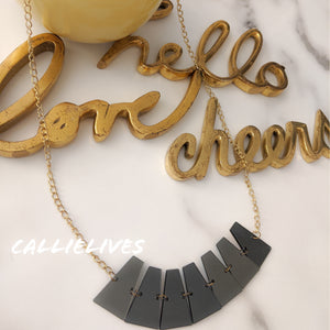 Callie Acrylics: Vintage Style 80s Mirror Necklace