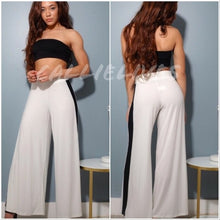 Load image into Gallery viewer, High Waist Contrast Palazzo Pants