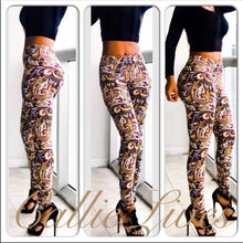 Load image into Gallery viewer, Wild Zebra & Paisley Mini Me Kids Leggings