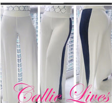 Load image into Gallery viewer, Stasia High Contrast: Striped Wide Leg Palazzo Pants - callielives