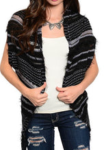 Load image into Gallery viewer, Raw Knit Asymmetrical Vest