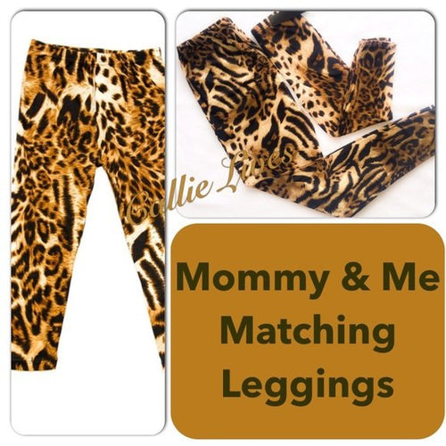 Cheetah Plus Size Mommy & Me Matching Leggings