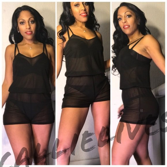 Xena See Thru Me: Sexy Sheer Cami Rompers - callielives