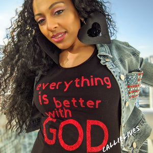 Miz Everything: Is Better with God Glitter Midi