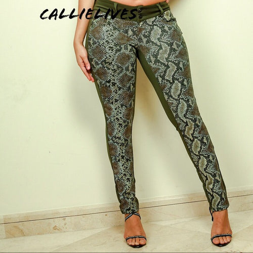 Callie Snake in the Grass: Wild Scuba Skinny Pants - callielives