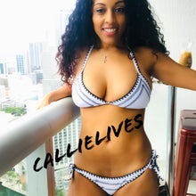 Load image into Gallery viewer, Callie Stitched: White Contrast String Bikini - callielives