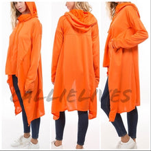 Load image into Gallery viewer, Miz Hi Lo: Kangaroo Hoodie Jacket Cape Top - callielives