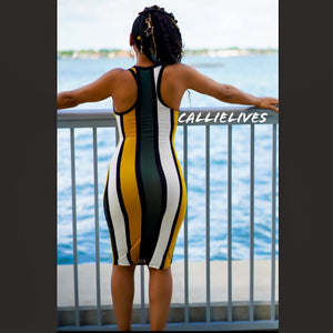 Callie Olives Please: Racerback Striped Midi Dress - callielives