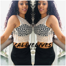 Load image into Gallery viewer, Callie Mix: Geometric Lace Bralette style Crop top, Tops, CallieLives