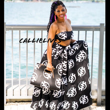 Load image into Gallery viewer, Callie Asiatic Maxi: Ankara Bandeau, Skirt & Handbag Set - callielives