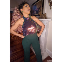 Load image into Gallery viewer, Callie Flow: Iridescent Sequin Halter Top Jumpsuit, Jumpsuits and Rompers, CallieLives