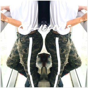 Miz Plus Ripped Camo: Torn Side Stripe Jeans, Skinny Pants & Palazzos & Other Cute Bottoms, CallieLives