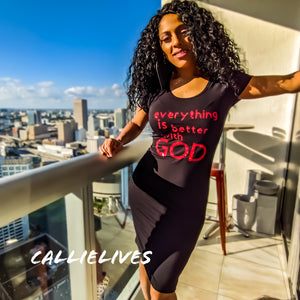 Miz Everything: Is Better with God Glitter Midi, Dresses, CallieLives