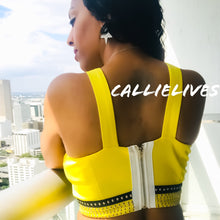 Load image into Gallery viewer, Callie Rockstar: Studded halter crop tops - callielives