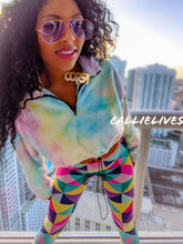 Load image into Gallery viewer, Stasia Cropped: Pastel Faux Fur Rainbow Sweater, Jackets and Blazers, CallieLives
