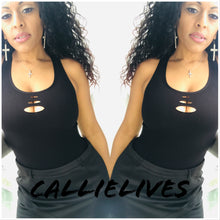 Load image into Gallery viewer, Xena Seamless: Peephole Side Net CutOut Tank Top, Tops, CallieLives