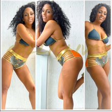 Load image into Gallery viewer, Callie Wonder Plus: Gold Foil Bikini Tribal Ink - callielives