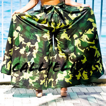 Load image into Gallery viewer, Callie Camo Palazzo: Ankara Pants and Bandeau Set - callielives