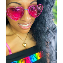 Load image into Gallery viewer, Eye Heart Hot Pink Love Frameless Aviator Shades