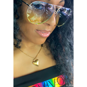 OVERSIZED Aviators Blue Yellow Ombré Sunglasses, Accessories, CallieLives