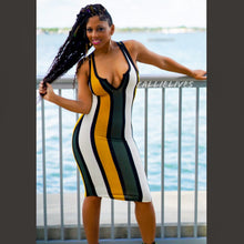 Load image into Gallery viewer, Callie Olives Please: Racerback Striped Midi Dress