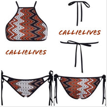 Load image into Gallery viewer, Callie ZigZag Me: Texture Contouring String Bikini, Swimwear, CallieLives