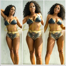 Load image into Gallery viewer, Callie Wonder Plus: Gold Foil Bikini Tribal Ink