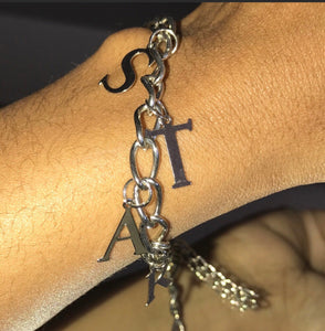 "Stasia Star Charm Bracelet: 10"" Silver Colored Jewelry"