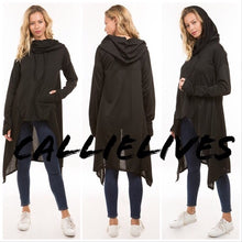 Load image into Gallery viewer, Miz Hi Lo: Kangaroo Hoodie Jacket Cape Top (PLUS) - callielives
