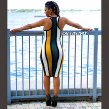 Load image into Gallery viewer, Callie Olives Please: Racerback Striped Midi Dress - callielives