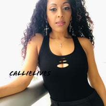 Load image into Gallery viewer, Xena Seamless: Peephole Side Net CutOut Tank Top - callielives