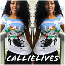 Load image into Gallery viewer, Callie Dancing: Rhinestone Embellished Couple Top - callielives