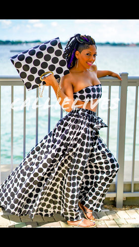 Callie Circle Maxi: Ankara Bandeau & Skirt Set, Sets, CallieLives
