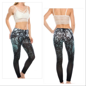 Miz Plus: Winter Tree Branch 3D Illusion Leggings, Leggings & Joggers, CallieLives