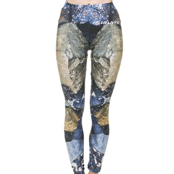 Miz Plus: Magnetite Rock Climber 3D Illusion Leggings, Leggings & Joggers, CallieLives