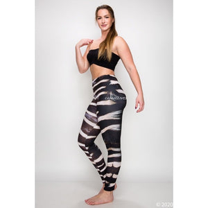 Miz Plus: Zebra Fur 3D illusion Print Leggings XL