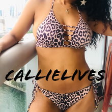 Load image into Gallery viewer, Xena WildKini: Leopard Nude String Ladder Bikini