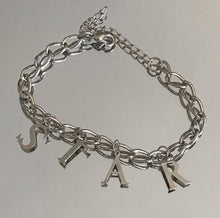 "Load image into Gallery viewer, Stasia Star Charm Bracelet: 10"" Silver Colored Jewelry"