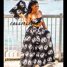 Load image into Gallery viewer, Callie Asiatic Maxi: Ankara Bandeau, Skirt & Handbag Set