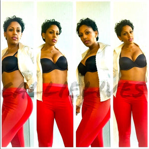 Callie Red Scuba: Skinny Pants Vegan Leather, Skinny Pants & Palazzos & Other Cute Bottoms, CallieLives