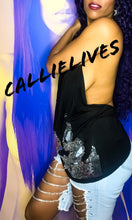 Load image into Gallery viewer, Callie on the Loose: Silver sequin Chain Apron - callielives