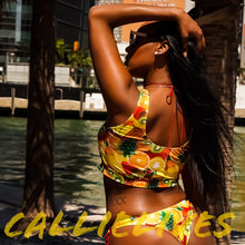 Load image into Gallery viewer, Stasia Fruit: Smoothie Yellow & Red Laced Bikini - callielives